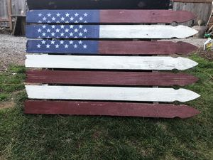 Old Fence post flag for Sale in Tacoma, WA