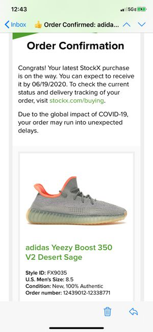 Adidas yeezy boost 350 V2 desert sage for Sale in Brooklyn, NY