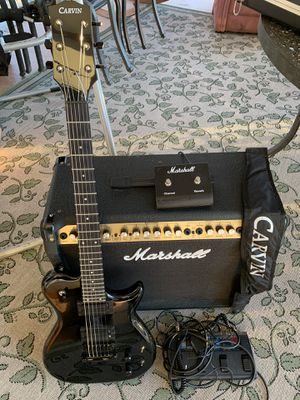 Carvin electric guitar and Marshall amp for Sale in Lewiston, ME