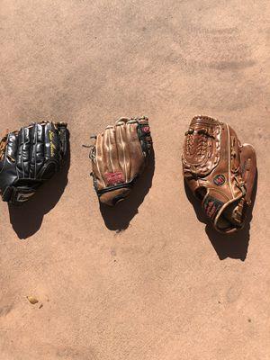 Baseball gloves $15 each or $40 for all for Sale in Rancho Santa Fe, CA