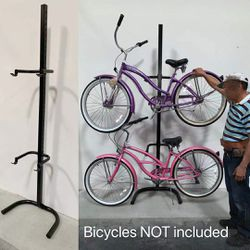New in box 2 bicycle beach cruiser mountain bike stand carrier rack (not freestanding) for Sale in South El Monte,  CA