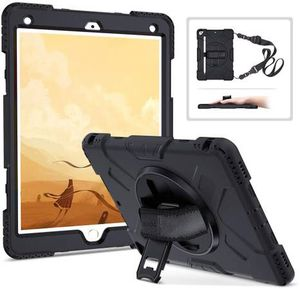 iPad 7th Generation Case with Pencil Holder, iPad 10.2 Case 2019 Heavy Duty Shockproof Rugged Protective Tablet Case Buit-in Rotating Stand with Hand for Sale in Pomona, CA