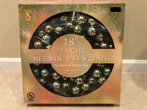 "18"" 72-Light Metallic Ball Wreath for Sale in Clifton, VA"