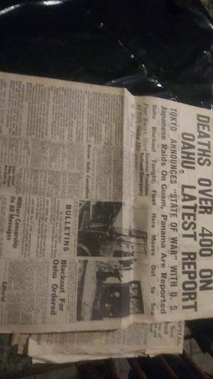 Dec.7 1941 Honolulu star bulletin orginal. Front pages of pearl harbor attack. The day! for Sale in Fallbrook, CA