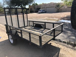 5+8 Single axle trailer with drop-down gate for Sale in Surprise, AZ