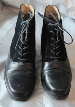 Boots-Vintage Pappagallo G-Tovino Black Laced Up Ankle Boots Size 6 M for Sale in TN OF TONA, NY