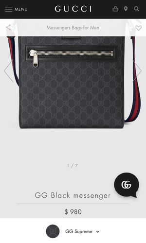GG Black Messenger Gucci Bag for Sale in Palmdale, CA
