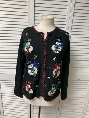 Snowmen Christmas sweater cardigan for Sale in Coraopolis, PA
