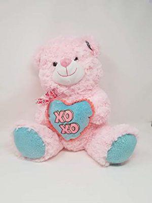 "Hug Me XO Heart Bear 16"" Stuffed Plush Holding Heart Teddy Pink Love Valentines day Brand New with tag! Brand New with Tag! for Sale in Hollywood, FL"