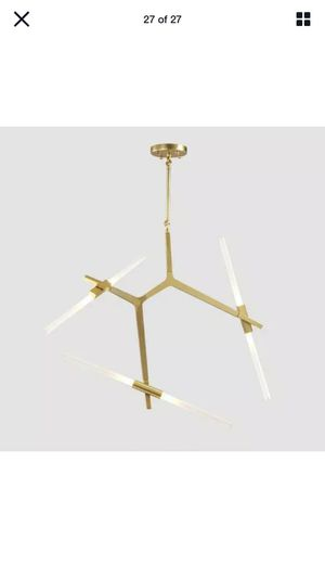 Gold chandelier modern brand new for Sale in Fort Worth, TX