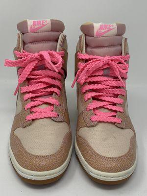 Nike Sky High Dunks Vntg Desert Sand/Polarized Pink Wedge Shoes Sz 7 for Sale in Las Vegas, NV