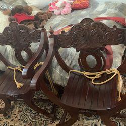 Antique 19th Century Carved Savonarola Chair for Sale in Hermosa Beach,  CA