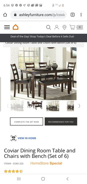 Ashley Dining Table Set w delivery for Sale in Fresno, CA