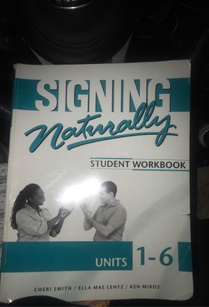 ASL sign language student workbook for Sale in Corona, CA