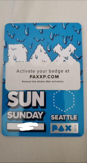PAX Sunday badge for Sale in Seattle, WA