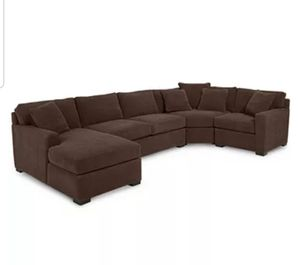 Jessica Dark Brown Sectional for Sale in Wenatchee, WA