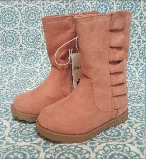 Toddler Girls Reva Ruffle Boots Cat & Jack Pink available in size 8 and size 9 for Sale in Orlando, FL