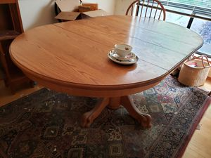 Oak Table and Chairs for Sale in Everett, WA