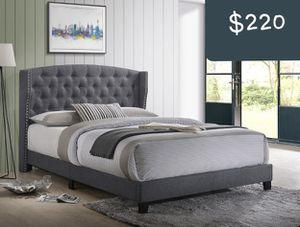 PLATFORM QUEEN BED FRAME no mattress for Sale in Tempe, AZ