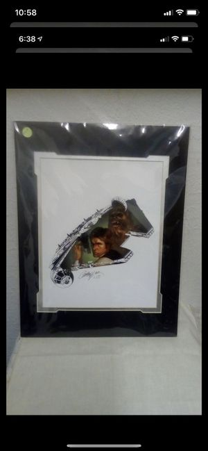 "Disney Artist J. Scott Campbell ""The Rebel Within"" 14""x18"" Chewbacca & Hon Solo Signed Print for Sale in Largo, FL"