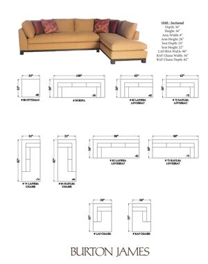 Burton James Sectional Sofa for sale $1875 OBO for Sale in Houston, TX