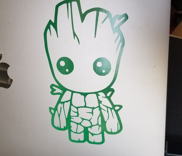 Baby groot 5in for laptop, car vinyl decal