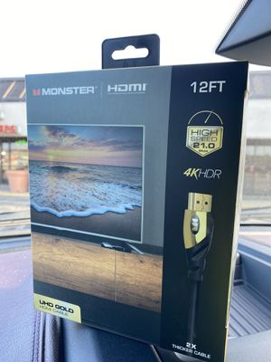 12 foot monster cable HDMI Gold new for Sale in Adrian, MI