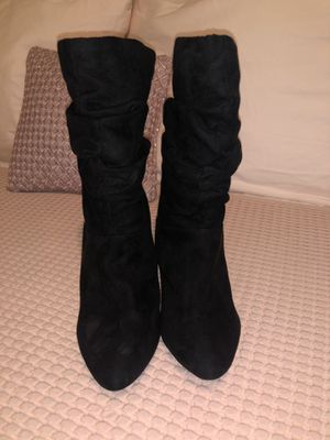 Forever 21 black boots size 6 1/2 for Sale in Sylmar, CA