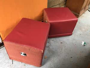 Leather and fabric Ottomans for Sale in Atlanta, GA