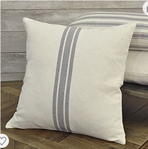 Pair of Grain Sack Striped Throw Pillows for Sale in Sun City Center, FL