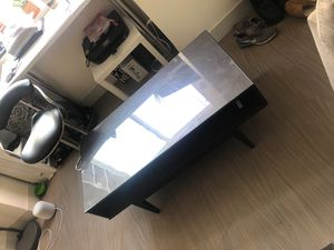 Coffee table with glass and 2 spaces good condition for Sale in San Francisco, CA