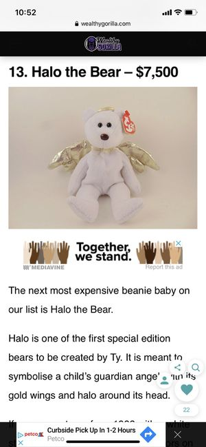 Halo - Beanie Baby (PE Pellets, Tag Errors, Brown Nose, Retired!) for Sale in Sacramento, CA