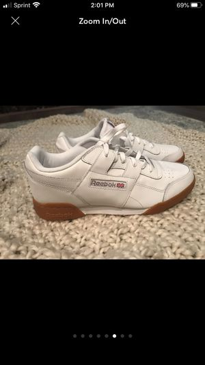 Mens classic white reeboks size 11.5 for Sale in Lake Forest, CA