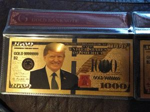 Thick, gold plated $1000 Trump bills w/ or w/out COA for Sale in Oklahoma City, OK