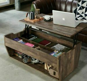 Lift-Top Coffee Table in Reclaimed Oak Finish for Sale in Ontario, CA