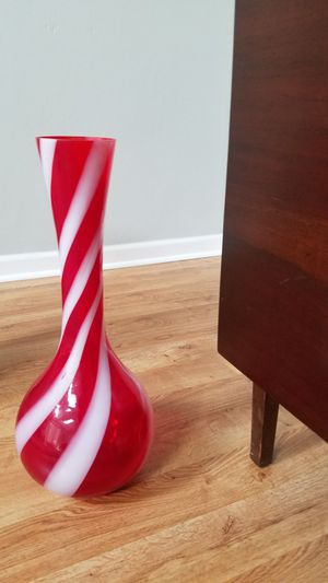 70s candy cane color glass vase for Sale in Virginia Beach, VA