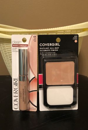 Covergirl outlast ivory foundation and light concealer for Sale in Hamburg, NY