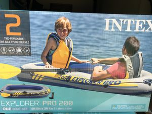 Intex explorer pro 200 inflatable boat for Sale in Norcross, GA