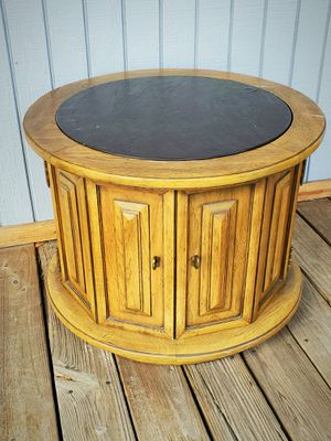 Vintage slate top coffee or accent table for Sale in Davie, FL
