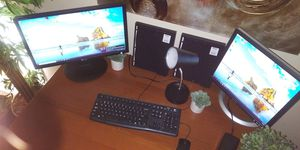 Desktop computer w dual monitors for Sale in Phoenix, AZ