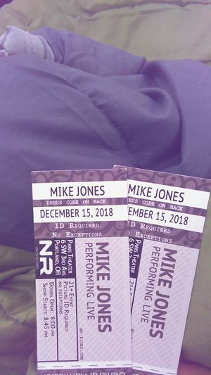 Mike Jones Concerned tickets Dec. 15, 2019 for Sale in Portland, OR