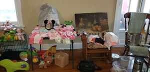 Baby Girl Clothes, Toys, Minnie Mouse Car Seat, Nursey Crib Outfit, Activity Mats, Etc... for Sale in Bluffton, SC