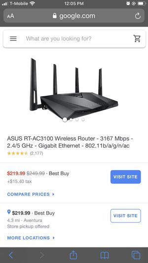 Modem and Router $100... Works great . for Sale in Fort Lauderdale, FL