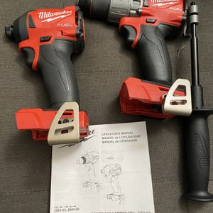 Milwaukee M18 Fuel (Gen2) TOOL ONLY! 1/2in Hammer drill & 4-Speed 1/4in Impact driver ( Both for 165.00) New for Sale in San Diego, CA