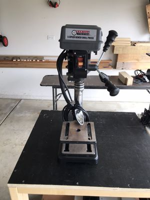 Central Machinery 5 Speed Benchtop Drill Press With Built In Work Light for Sale in Bartlett, IL
