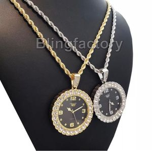 "Lab Diamond Watch Pendant & 4mm 24"" Rope Chain for Sale in New York, NY"