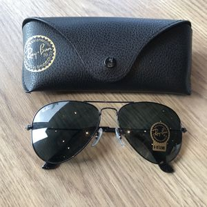 Ray Ban Aviators 3025 Black Sunglasses With Receipt for Sale in Washington, DC
