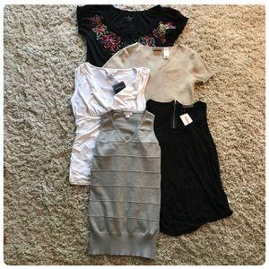 Women's 5 Piece MEDIUM Shirt Bundle for Sale in Dallas, TX