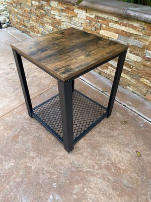 Industrial Side Table, Nightstand and End Table with Mesh Shelf, Sturdy Metal Frame for Sale in Corona, CA