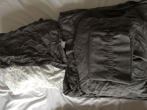 Full/Queen size gray sheet set with bed skirt for Sale in Northville, MI